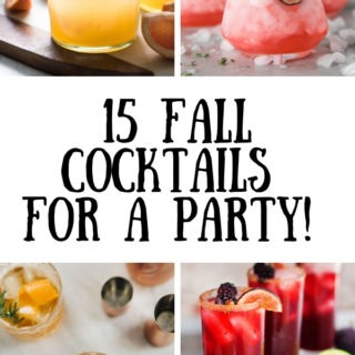 15 fall cocktails graphic with text