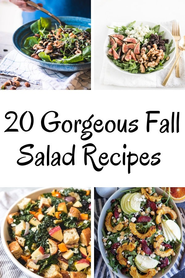 20 fall salad recipes collage
