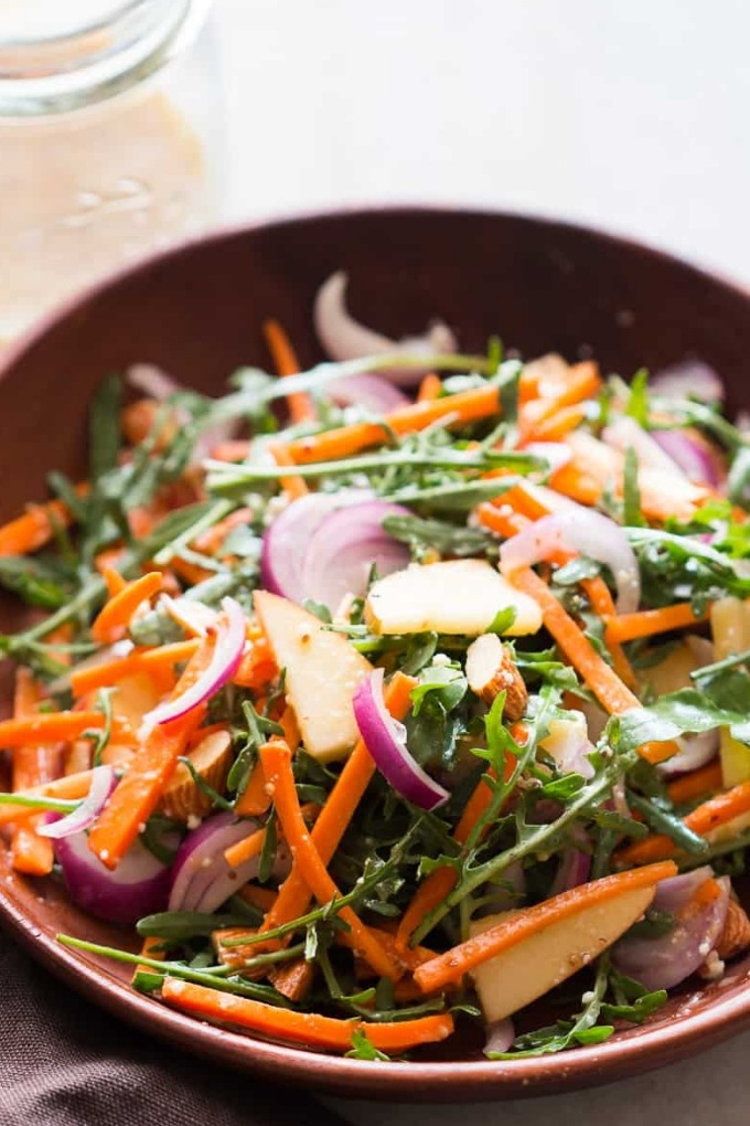 20 fall salad recipes - apple arugula salad