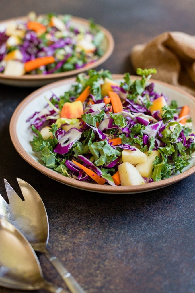 20 fall salad recipes - apple cabbage slaw