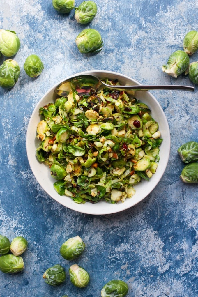 20 fall recipes - brussels sprout salad