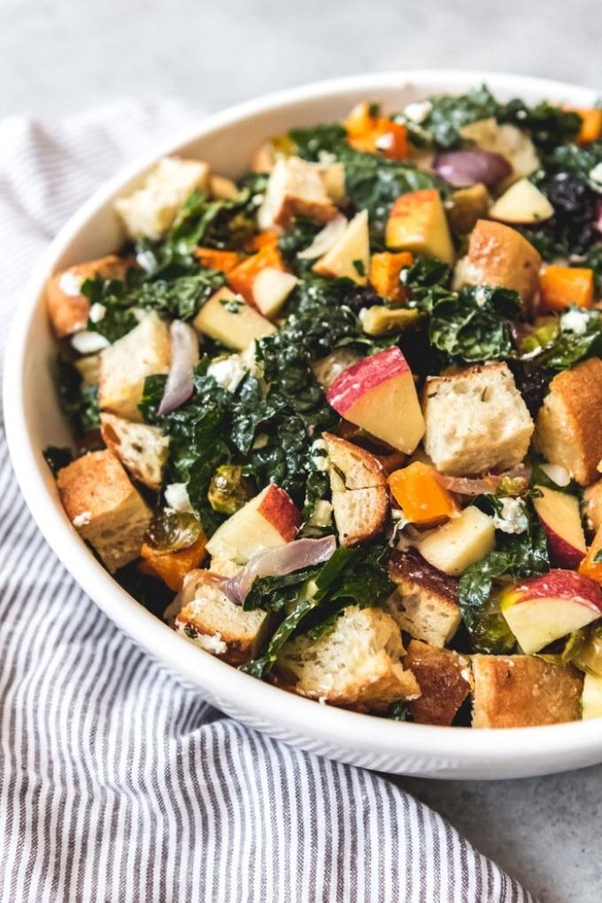 20 fall salad recipes - fall panzanella salad