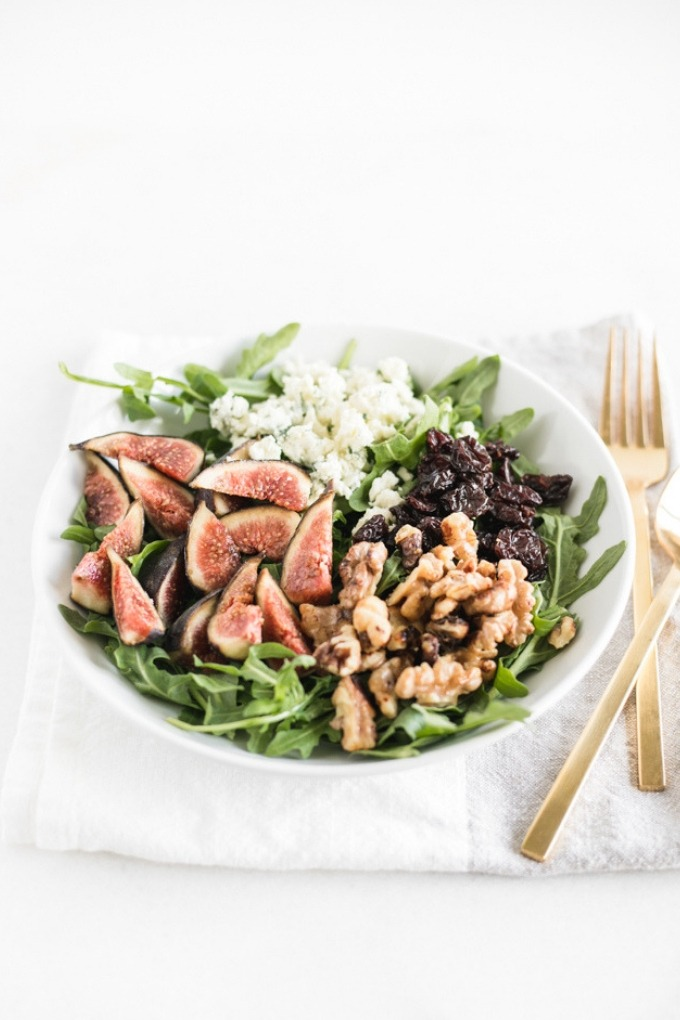 20 fall recipes - fig arugula salad
