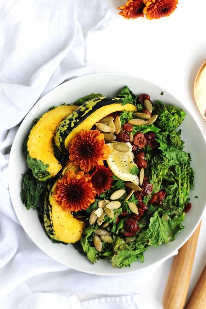 20 fall salad recipes - squash broccoli rabe salad