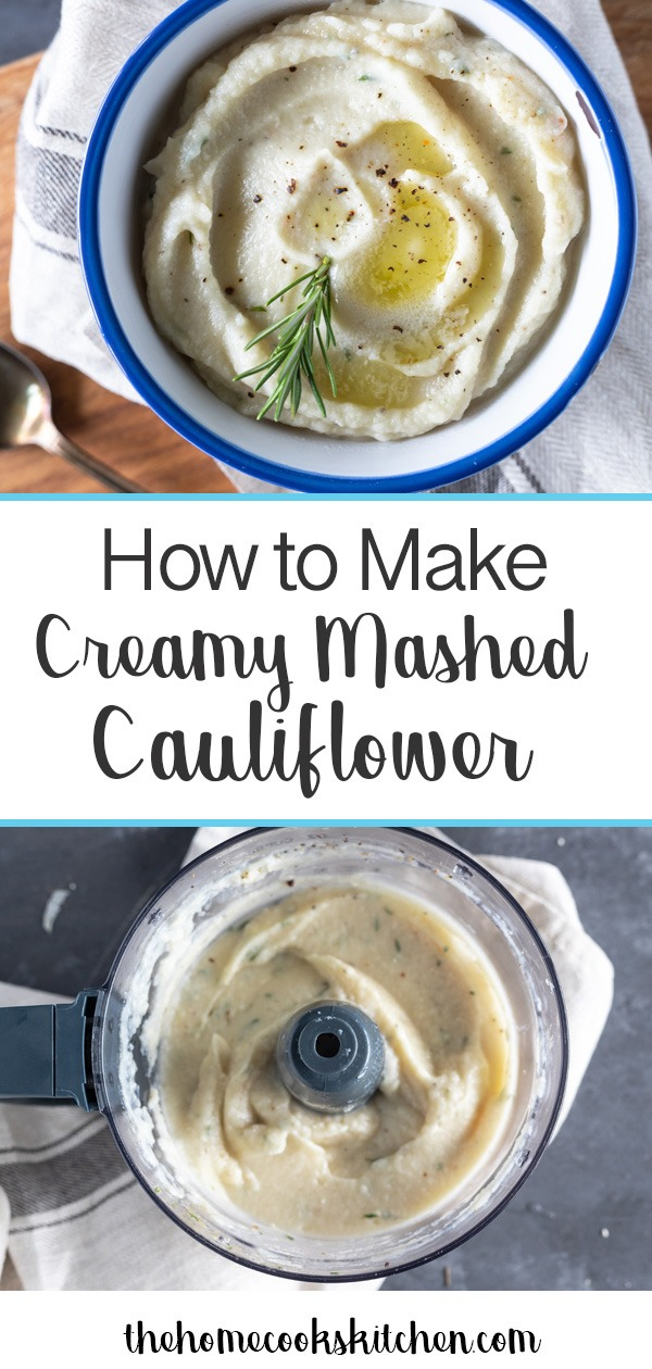A beautiful alternative to mashed potatoes, this creamy cauliflower mash will be your new favorite side dish at the dinner table. This is a great low-carb, healthier option for people with specific dietary requirements, is gluten free and can be made Keto-friendly. This is a super easy recipe, that yields restaurant quality creamy cauliflower mash! #sidedish #side #lowcarb #keto #lowcarbsidedish #cauliflowermash #cauliflower