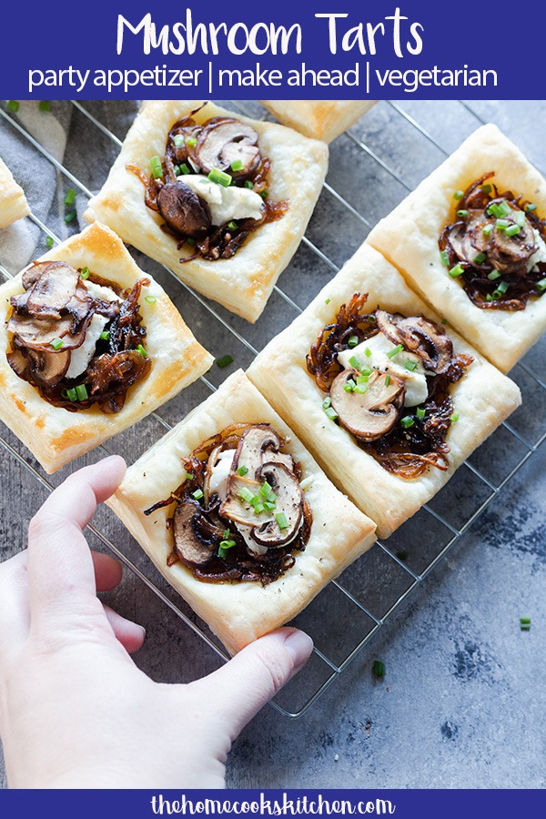 mushroom tart smaller pinterest graphic