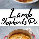 lamb shepherd's pie Pinterest graphic