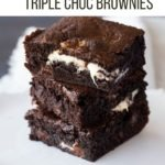triple chocolate brownie pin