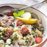 israeli couscous salad pinterest graphic