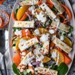 lentil halloumi salad pinterest graphic
